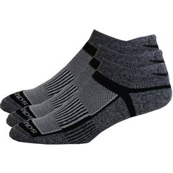 Saucony Mens 3-pk. Inferno Black Running Socks