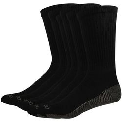 Mens 6-pk. Dri Tech Black Crew Socks