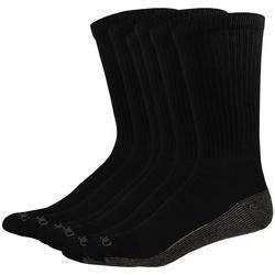 Mens 6-pk. Dri Tech Black Crew Socks