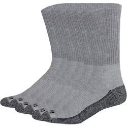 Mens 6-pk. Dri Tech Grey Crew Socks