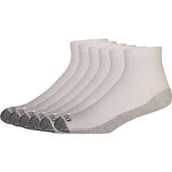 Dickies Mens 6-pk. Dri Tech White Quarter Socks