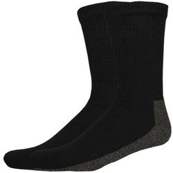 Dickies Mens 2-pk. Non-Binding Black Crew Socks