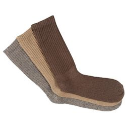 Mens 3-pk. Khaki Performance Crew Socks