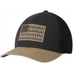 Mens Flexfit Tree Flag Mesh Hat