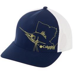 Mens PFG Picture Billfish Flexfit 110 Trucker Hat