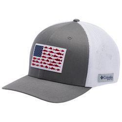 Columbia Mens PFG Mesh Grey Fish Flag XXL Hat