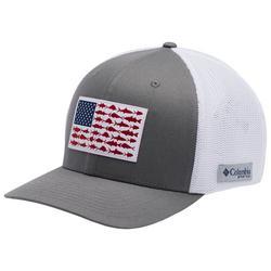 Mens PFG Mesh Grey Fish Flag XXL Hat