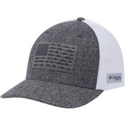 Columbia Mens PFG Mesh Fish Flag Heathered Hat