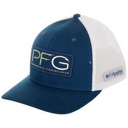 Columbia Mens PFG Logo Rectangle Patch Mesh Flexfit  Hat