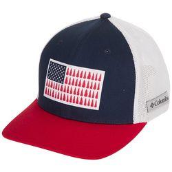 Columbia Mens PFG Tree Flag Mesh Back Flex Fit  Hat