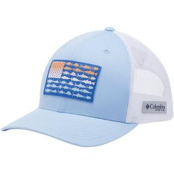 Mens PFG Ombre Fish Flag Patch Snap Back Hat
