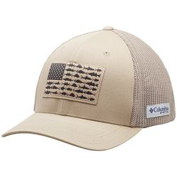 Columbia Mens PFG Flexfit Fish Flag Mesh Hat