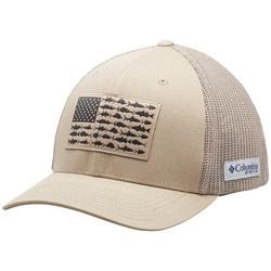 Mens PFG Flexfit Fish Flag Mesh Hat