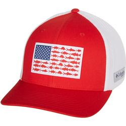 Mens PFG Flexfit Fish Flag Hat