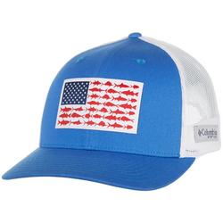 Mens PFG Fish Flag Mesh Snap Back Hat