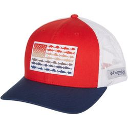 Columbia Mens PFG Fish Flag Mesh Snap Back