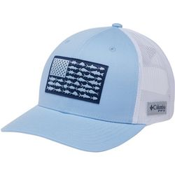 Columbia Mens Snap Back Fish Flag Ballcap