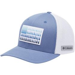 Mens Flexfit Tree Flag Mesh Hat
