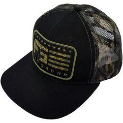 FloGrown Mens Camo Stripes Snapback Hat
