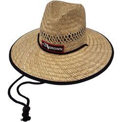 FloGrown Mens Round Straw Hat