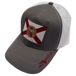 FloGrown Mens Florida Flag Patch Snapback Hat