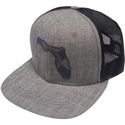 FloGrown Mens Heathered Florida Patch Snapback Hat
