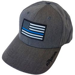 FloGrown Mens BLue Lives Flag Trucker Hat