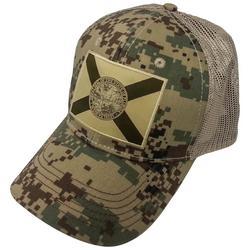 Mens Digital Camo Snapback Hat