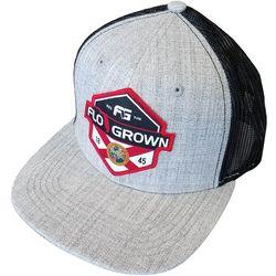 FloGrown Mens Poly Flag Split Snapback Hat