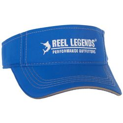 Reel Legends Mens Performance Solid Logo Visor