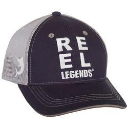Reel Legends Mens Solid Logo Trucker Hat