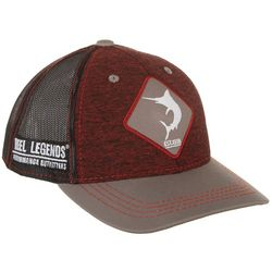 Reel Legends Mens Space Dyed Patch Trucker Hat