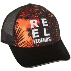 Reel Legends Mens Mystery Palm Trucker Hat