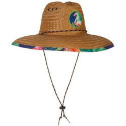 Peter Grimm Mens Flamingo Lifeguard Straw Hat