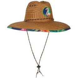 Mens Flamingo Lifeguard Straw Hat