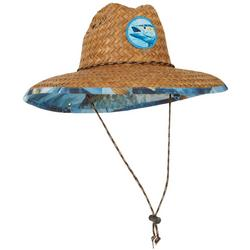 Mens Mackerel Lifeguard Straw Hat