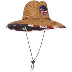 Peter Grimm Mens Americana Lifeguard Straw Hat