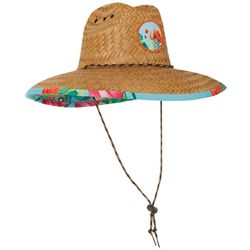 Peter Grimm Mens Flamingo Palm Lifeguard Straw Hat