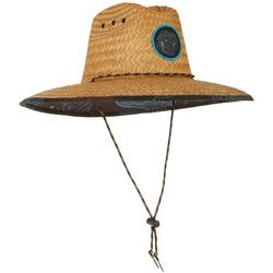 Mens Coral Lifeguard Straw Hat