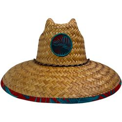 Mens Palms Lifeguard Straw Hat