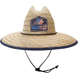Hook and Tackle Mens Lifeguard Bass Flag Straw Hat