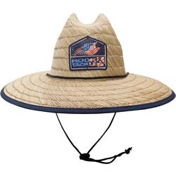 Mens Lifeguard Bass Flag Straw Hat