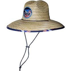 Mens Lifeguard Sails Stripe Straw Hat