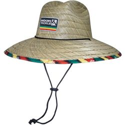 Hook and Tackle Mens Lifeguard Reggaeton Straw Hat