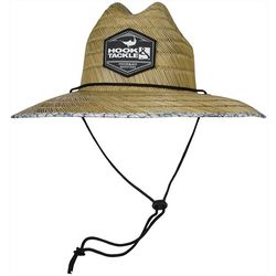 Mens Lifeguard Hook'em Straw Hat