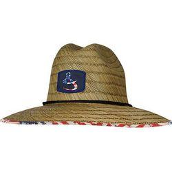 Hook and Tackle Mens Lifeguard Americana Straw Hat
