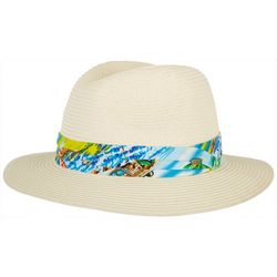 Scala Mens Braided Raffia Island Safari Hat
