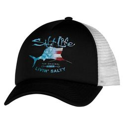 Salt Life Mens Amerisail Mesh Trucker Hat