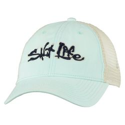 Salt Life Mens Stance Solid Mesh Trucker Hat