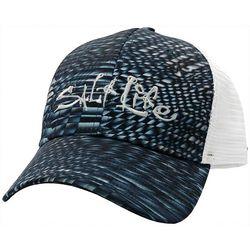 Mens Metal Scales Mesh Trucker Hat